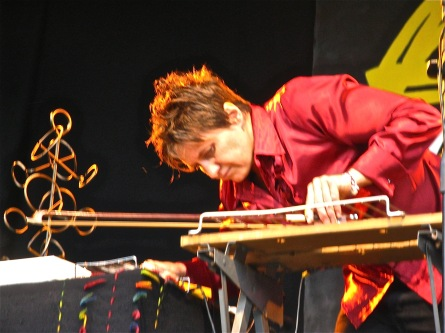 Chris and workbench WOMAD